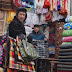 Vendors in the Urumqi Bazaar, Xinjiang