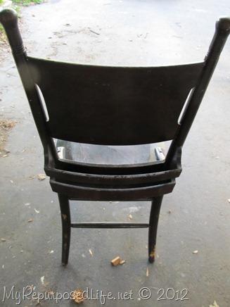 antique pew chair restoration (3)