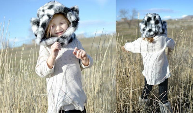 Nessie Top and Fur Hat