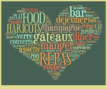 WORD coeur menu