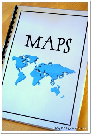 Laminated Maps Book ~ Our Aussie Homeschool