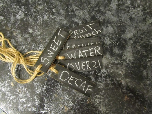 Chalkboard Style Beverage Tags