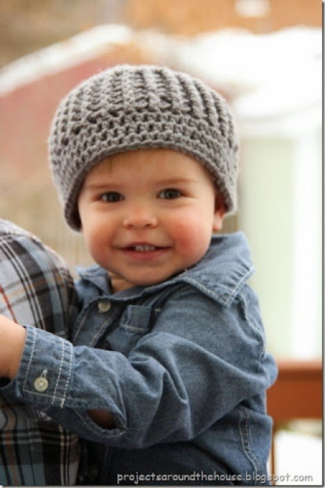 Crochet Toddler Ribbed Beanie Free Pattern