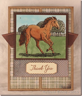 horse thank you card