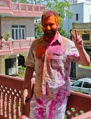 Happy Holi! at the festival in 2011