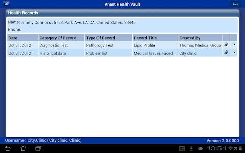 Anant Health Vault screenshot 1