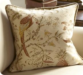 pottery barn pillows on the cheap