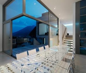 interior casa moderna muro hormigon