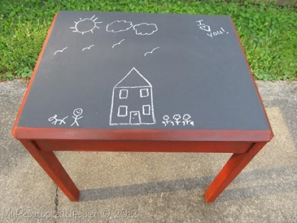 Kids Chalkboard table & chairs (13)