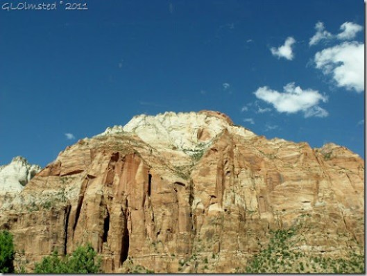 Monuments of sandstone Zion National Park Utah