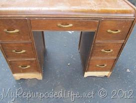 vintage desk repurposed