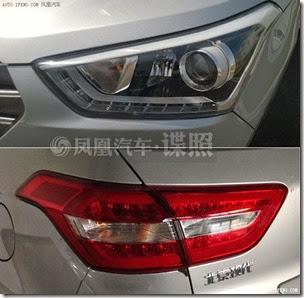 Hyundai-ix25-production-model-spied-headlight