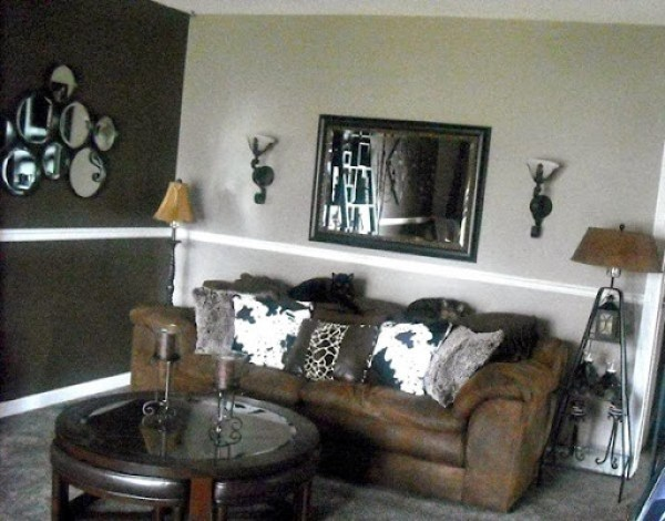 two-tone paint combination (living room)