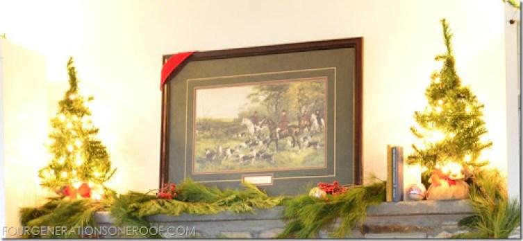 Equestrian Christmas Mantel {mantle}
