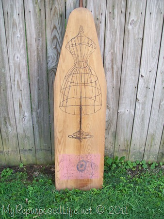 antique ironing board art