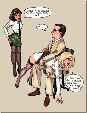 ea spanking school girls