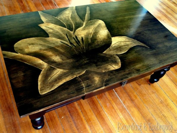 Artwork using Wood Stain