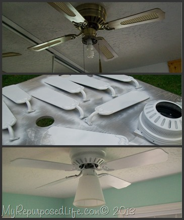 My Repurposed Life-spray paint a ceiling fan