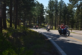 Black Hills days are accompanied by the sound of road thunder
