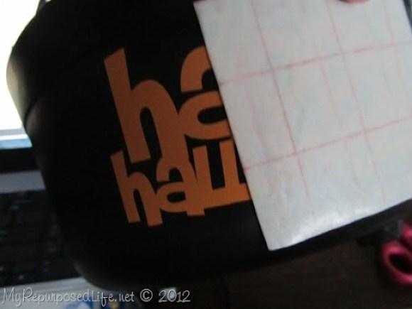 applying vinyl with transfer paper