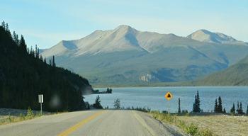 leaving Muncho Lake at 8am