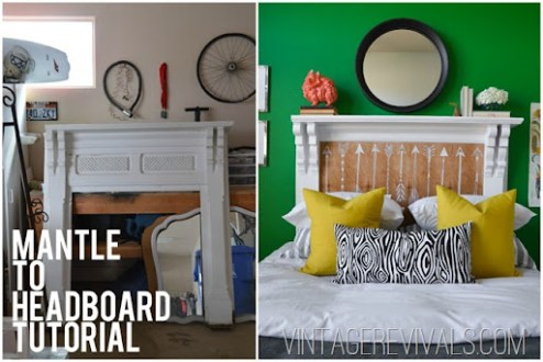 Mantle To Headboard Tutorial     Vintage Revivals How To Turn A Mantle Into A Headboard