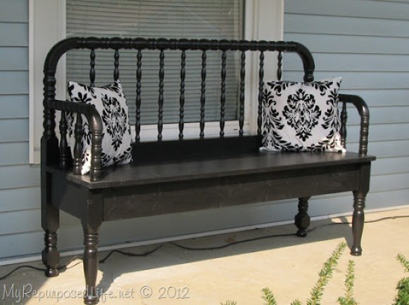 Jenny Lind headboard bench (7)