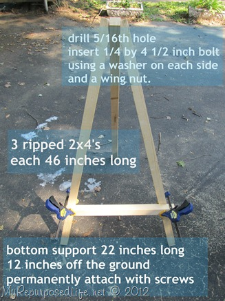 DIY Display Easel description
