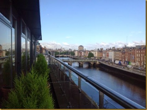 Vista do Hotel Eliza Lodge, em Dublin