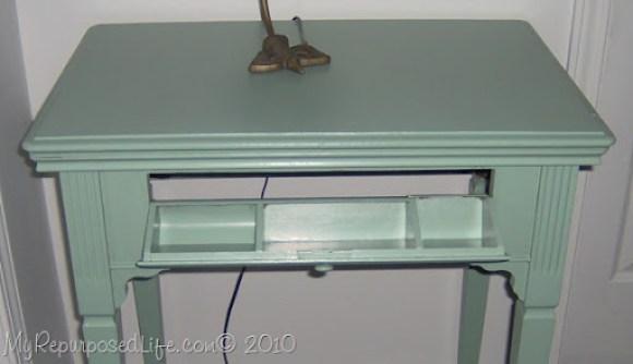vintage sewing cabinet redo