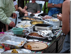 Food doesn't last long around RVers, Red Rock RV Park, Henry's Lake, ID