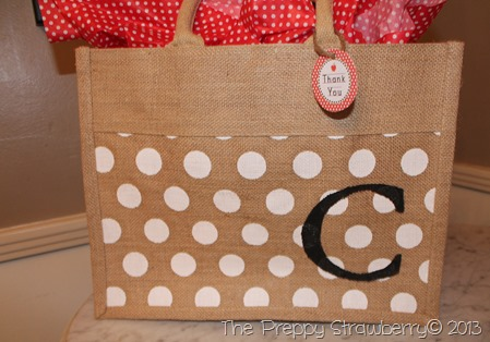 Stenciled Tote Bags {The Preppy Strawberry}