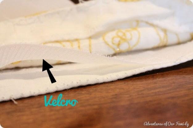 no sew pillowcase velcro edges