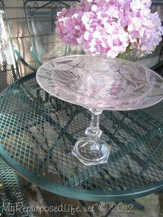 repurposed glassware (plate)