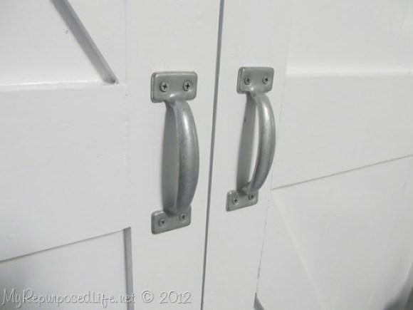 faux barn door (handles)