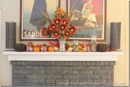 Fall Thanksgiving Mantel