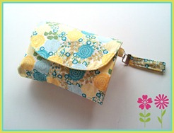 yellow blue flower nappy wallet 2