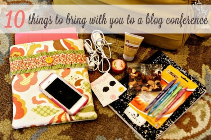 10 Things to Bring to a Blog Conference by See Vanessa Craft