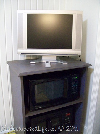 old microwave cart with an update