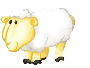 fazenda decoupage ovelha