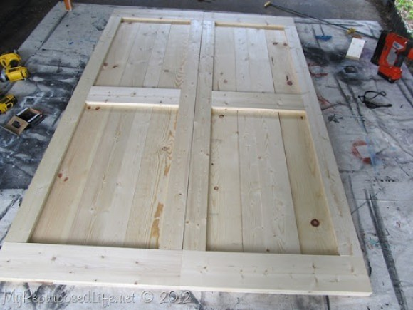 diy faux barn doors