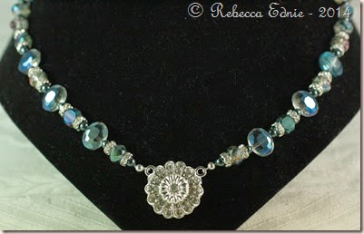 znet blues crystal necklace