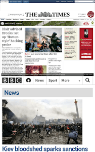 Newspaper Browser Lite screenshot 1