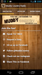 Muddy Country Radio screenshot 2