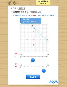 一次関数のグラフ さわってうごく数学「AQUAアクア」 screenshot 0
