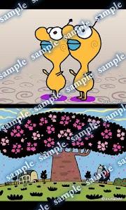 Daily Cartoon014 LWP & Clock screenshot 1