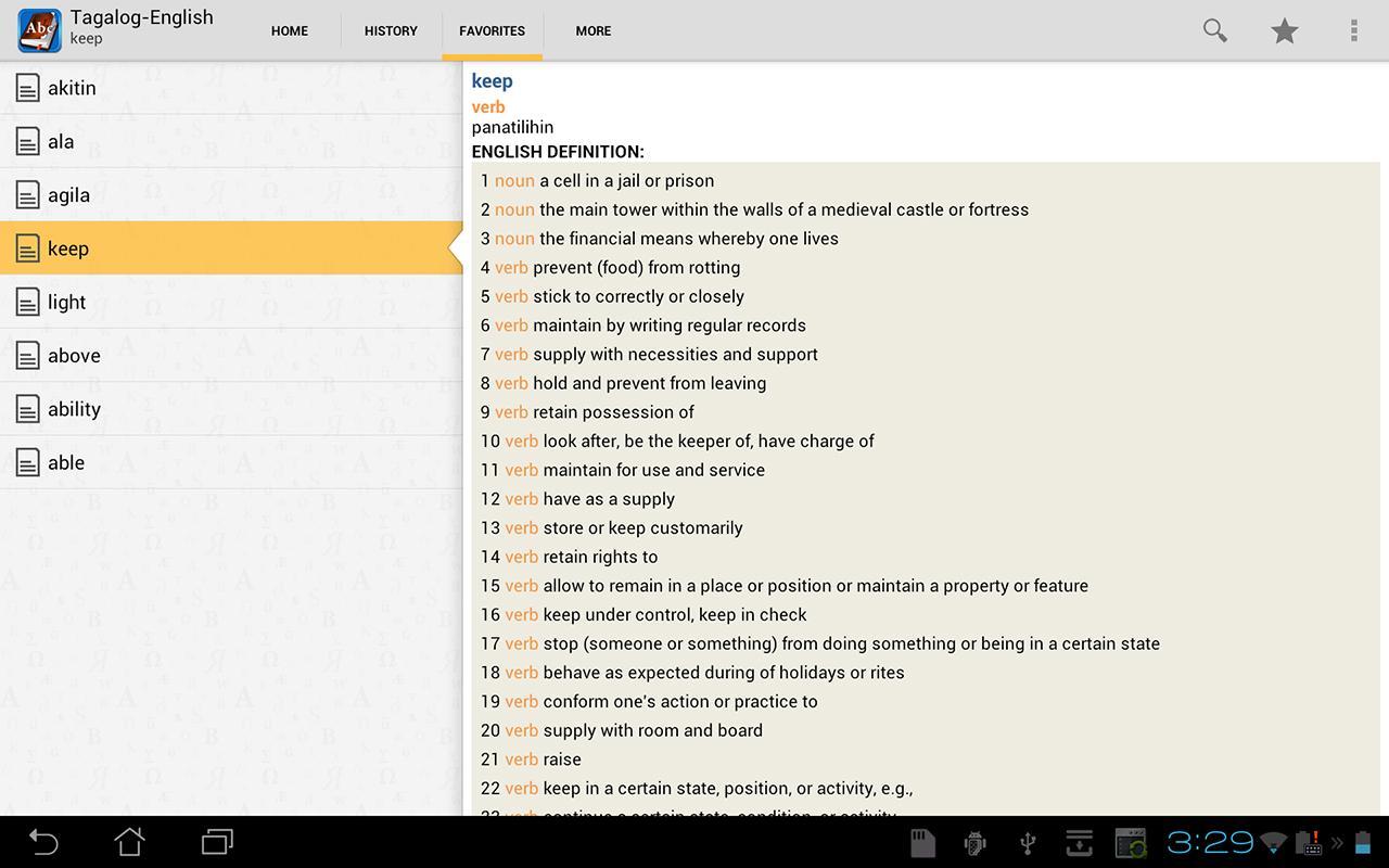 Translate English Tagalog Dictionary