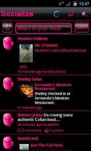 Pink Socialize for Facebook screenshot 1