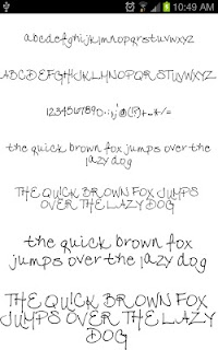 Fonts Hand for FlipFont® Free screenshot 06