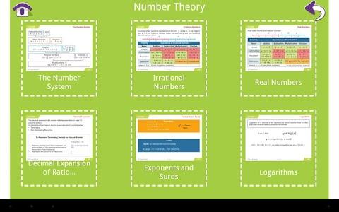 Grade 9 Math Learning Cards screenshot 1